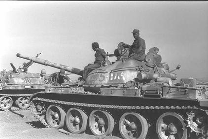 Captured T-62 MBT